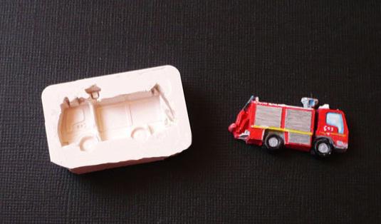 moule silicone camion de pompier