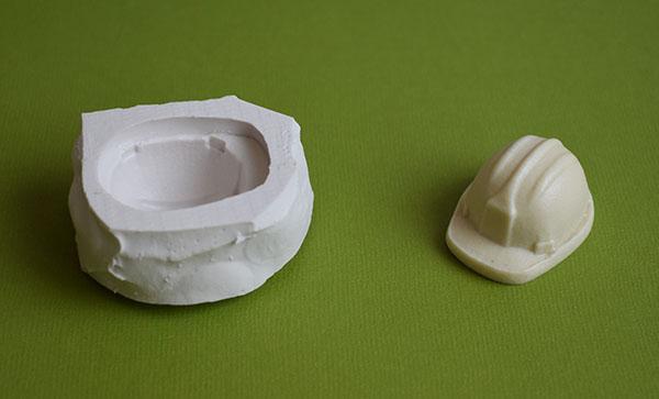 moule silicone casque de chantier