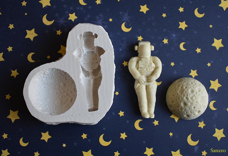 moule en silicone astronaute lune espace
