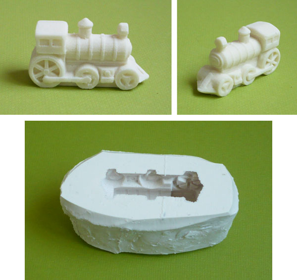 moule en silicone locomotive train