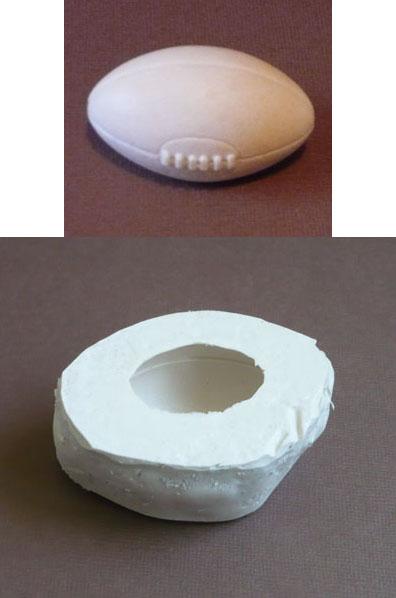 moule silicone ballon de rugby