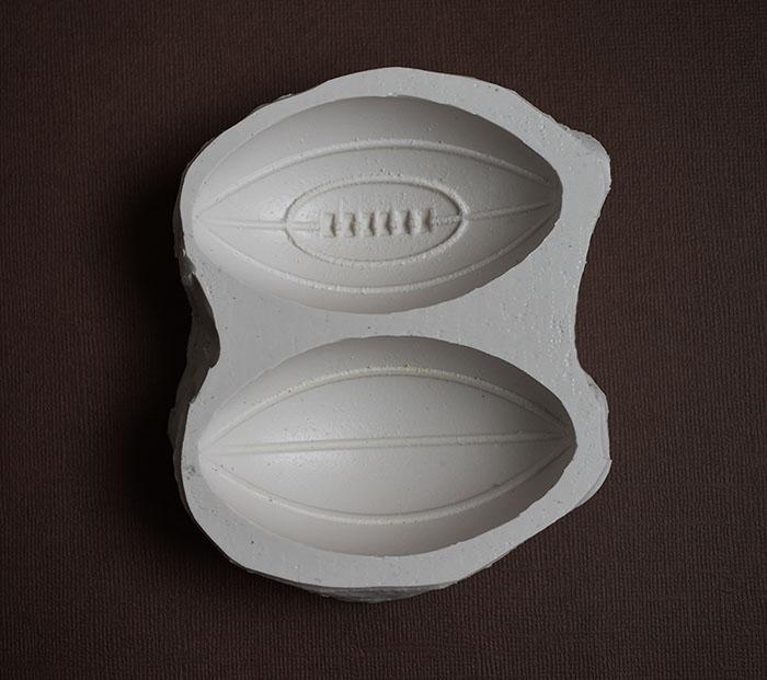 moule silicone gros ballon rugby 2 faces