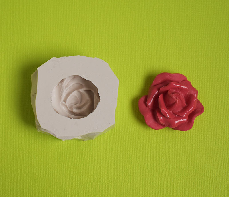 moule silicone rose fleur
