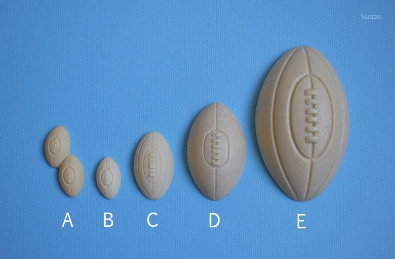 moules silicone ballon rugby football américain